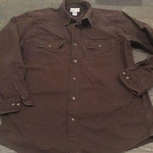 Men's XL Carhartt Brown Button front shirt
